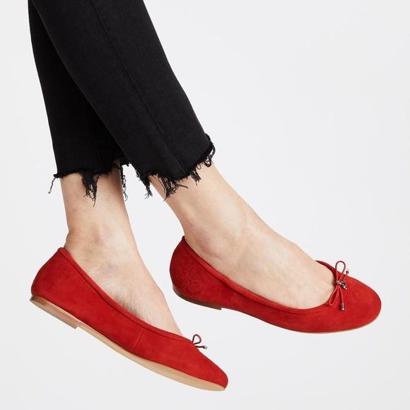 c5089341708761 Sam Edelman Felicia Suede Red Ballet Flats. M 5b50f0ff8ad2f9b00a97d727